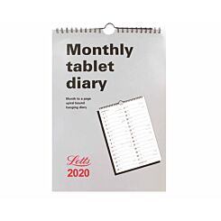 Letts Tablet Calendar Month to View 2020