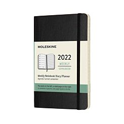 Moleskine 2022 Notebook Pocket Week to View Diary