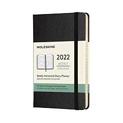 Moleskine 2022 Pocket Hardcover Horizontal Week to View Diary