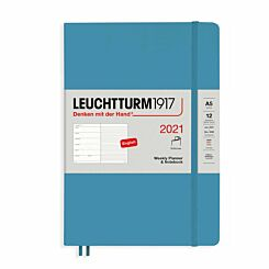 Leuchtturm1917 Softcover Diary Week to View A5 2021 Nordic Blue