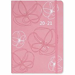 Matilda Myres Soft Touch Diary Week to View A5 2020-2021 Pink