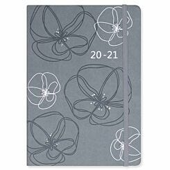 Matilda Myres Soft Touch Diary Day to View A5 2020-2021 Grey