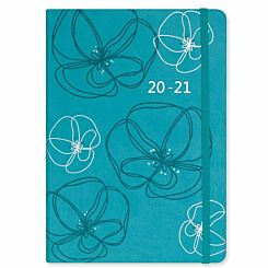Matilda Myres Soft Touch Diary Day to View A5 2020-2021 Teal