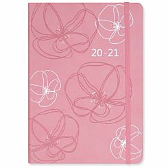 Matilda Myres Soft Touch Diary Day to View A5 2020-2021 Pink