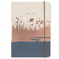 Matilda Myres Rose Gold Diary Day to View A6 2020-2021 Ivory