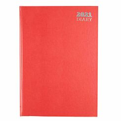 Ryman Diary Week to View A4 2021 Red