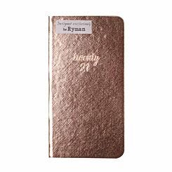 Ryman Rose Gold Slim Diary Week to View 2021