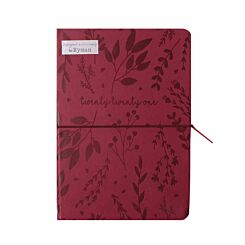 Ryman Embossed Diary A5 Day per Page 2021 Maroon