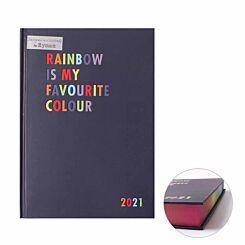 Ryman Rainbow Diary A5 Day per Page 2021