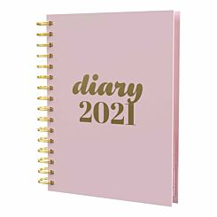 Collins Scandi Diary Day to View A5 2021 Pink