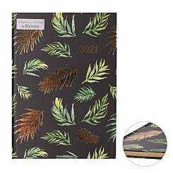 Ryman Foiled Fern Diary A5 Week to View 2021