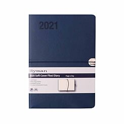 Ryman Flexi Diary Day to View A5 2021 Navy