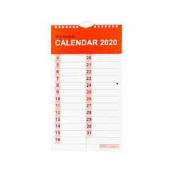 Ryman Tablet Calendar Month to View 2020