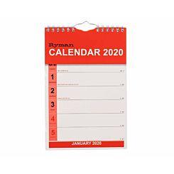 Ryman Tablet Calendar Week to View 2020