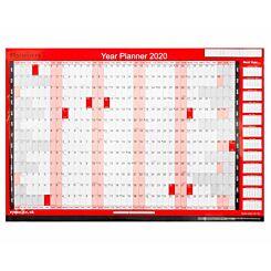 Ryman Full Year Wall Planner 2020
