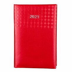 Ryman Langham Diary Week to View Pocket 2021 Red