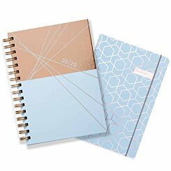 Matilda Myres Twin Set Diary and Notebook Week to View A5 2020