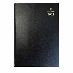 Collins Desk Diary Day to View A4 2021 Assorted