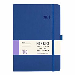 FORBES Classic Diary Day to View A5 2021 Blue