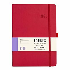 FORBES Classic Diary Day to View A5 2021 Red