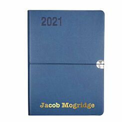 Ryman Personalised Soft Touch Flexi Diary Day to View A5 Navy Gold
