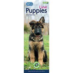 RSPCA I Love Puppies Slim 2022 Calendar