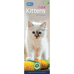 RSPCA I Love Kittens Slim 2022 Calendar