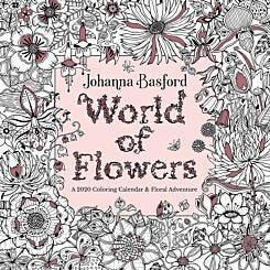 Johanna Basford World Flowers Wall Calendar 2020