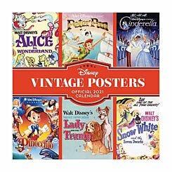 Disney Vintage Posters Wall Calendar 2021