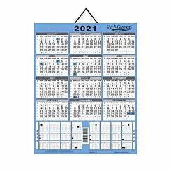 At-A-Glance 3 Year Wall Calendar 2021
