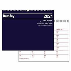 Dataday 4 Week to View Wall Calendar 2021