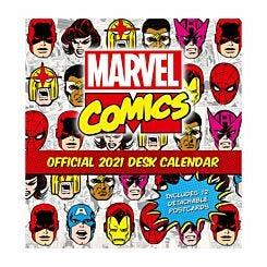 Marvel Comics Desk Easel Calendar 2021