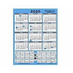 At-A-Glance 3 Year Wall Calendar 2020