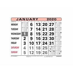 At-A-Glance Monthly Calendar 2020