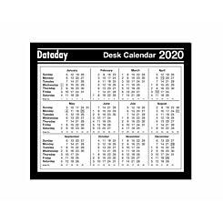 Dataday Desk Calendar Year to View 2020
