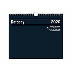 Dataday Wall Calendar 4 Weeks to View 2020
