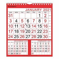 Ryman Calendar Medium 3 Month to View 2021