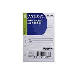 Filofax Refill Mini Name and Address