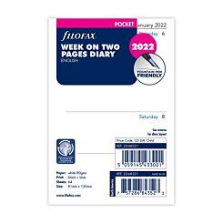 Filofax Pocket 2022 Week to View Diary Refill
