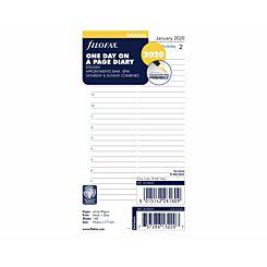 Filofax Diary Insert Day per Page Personal 2020