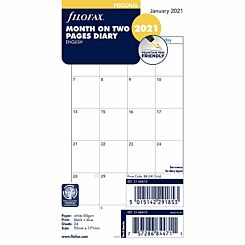 Filofax Diary Insert Month to View Personal 2021