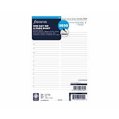 Filofax Diary Insert Day per Page A5 2020