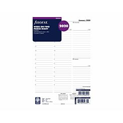 Filofax Diary Insert Week to View Deskfax 2020