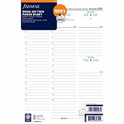 Filofax Diary Insert Week to View A4 2021