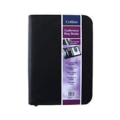 Collins Ringbinder Folio With Zipper Black