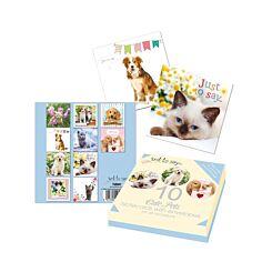Cute Pets Notecards Pack of 10