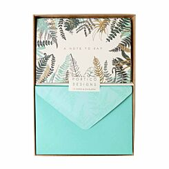 Portico Boxed Notecards Ferns Pack of 10