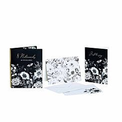 Botanical Etchings Note Cards Pack of 8