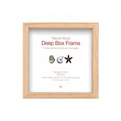 Innova Deep Box Frame 30 x 30cm Pack of 4 Natural Wood