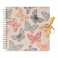 Innova Butterflies Wire Bound Scrapbook 25x25cm 25 Sheets